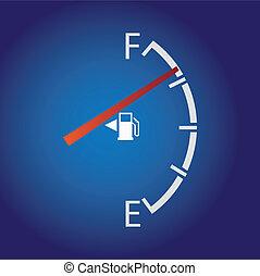 gas mätare, isolerat, på, a, mörk, bakgrund.
