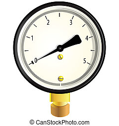 Gas manometer - Indicator to measure the pressure. Vector...