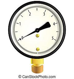 Gas manometer - Indicator to measure the pressure. Vector ...