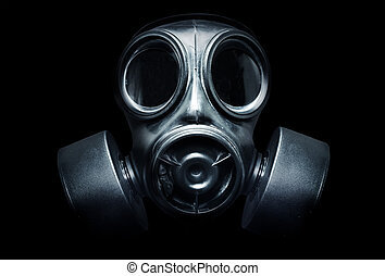 Gas Mask - A black military gas mask for protection
