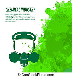 Gas mask and chemical industry - Gas mask and green...