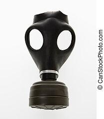 Gas mask. - Black gas mask.