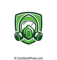 Gas mask, color illustration