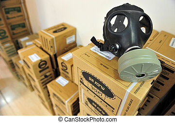 Gas mask distribution in Israel