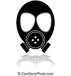 Gas mask - Icon illustration showing a mask used for...