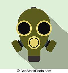 Gas mask flat icon