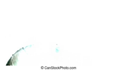 Gas mask grunge shot one flashes and fast pace white out...