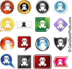 Gas Mask Icon Set