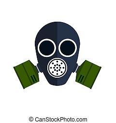 Gas mask isolated on white background. Vector illustration.