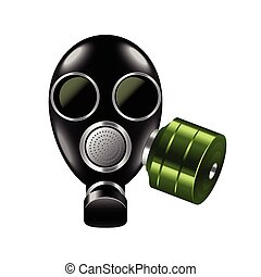 Gas mask isolated on white vector