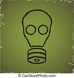 Gas mask on old scratched background.