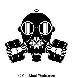 Gas mask on white background.