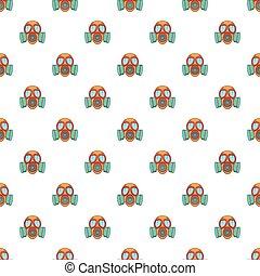 Gas mask pattern, cartoon style