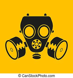 Gas Mask Vector Icon For Web Design And Desktop. Chemical Attack. Vector