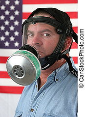 Gas Mask Vertical