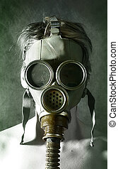 Gas mask - Woman in gas mask
