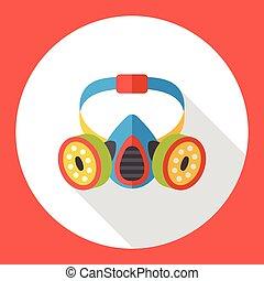 Gas masks flat icon