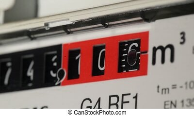 a fast counting gas meter