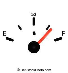 gas, meter, illustratie