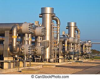 gas naturale, elaborazione, luogo