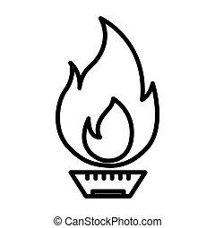 gas naturale, illustrazione, disegno