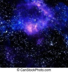 gas, nebula, buitenst, wolk, ruimte