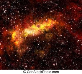 gas, nebulosa, exterior, nube, espacio