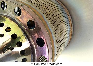 Gas patio heater burner detail