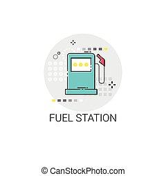 Gas Petrol Fuel Station Automobile Service Icon
