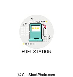Gas Petrol Fuel Station Automobile Service Icon
