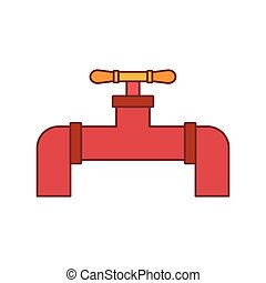 Gas pipeline icon, doodle style