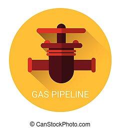 Gas Pipeline Icon