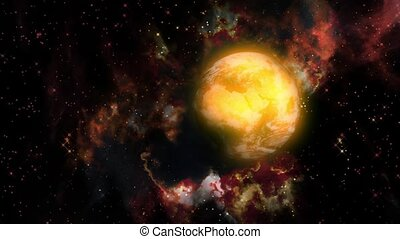 Gas Planet - Animation on Space - planets in interstellar...