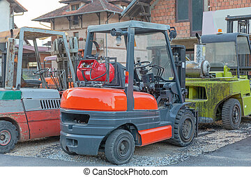 Gas Powered Forklift