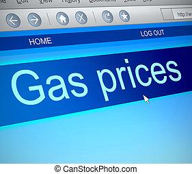 Gas prices concept.