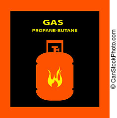 Gas propane butane danger sign vector