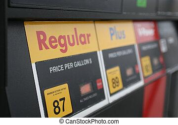 gas pump close up