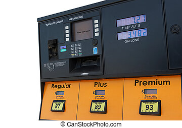 Gas Pump - Gas pump with color scheme altered to protect...