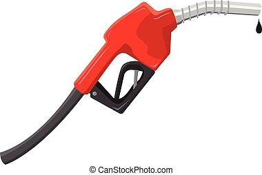 Gas pump gun vector illustration