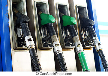 gas pump handles, nozzles