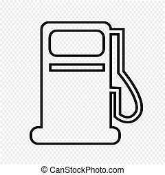 Gas pump icon , oil station icon