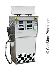 Gas pump,  isolated