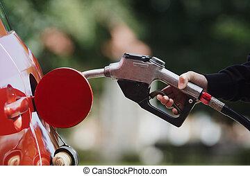 Gas pump nozzle
