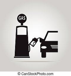 Gas pump sign