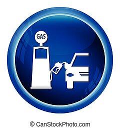 Gas pump symbol, icon vector illustration