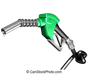 Gas pump with knotted hose