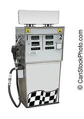 gas pumpa, isolerat
