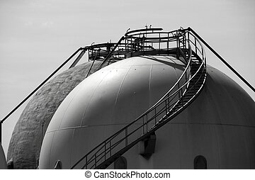 Gas Refinery, storage cistern outdoor