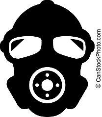 gas, silhouette, vettore, maschera, icona