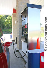 gas station - at the pump filling up